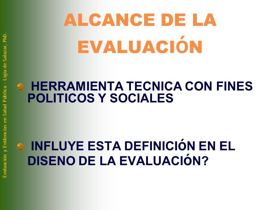 ALCANCE DE LA EVALUACIóN