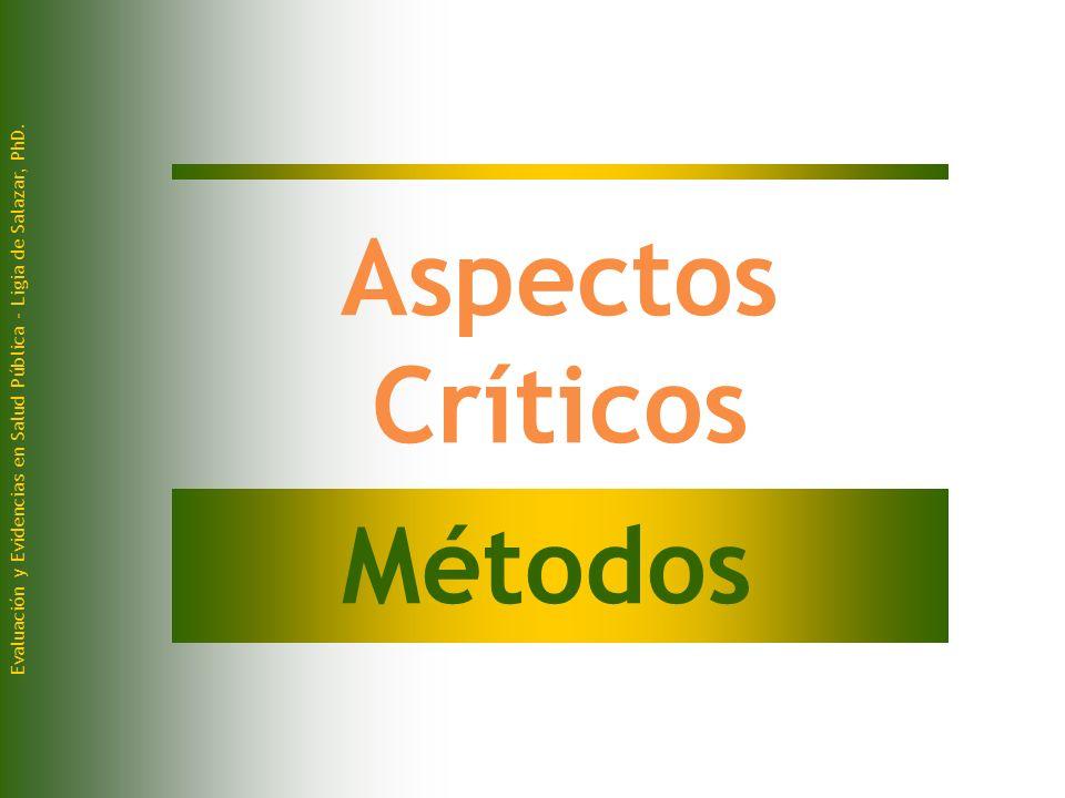 Aspectos Críticos Métodos