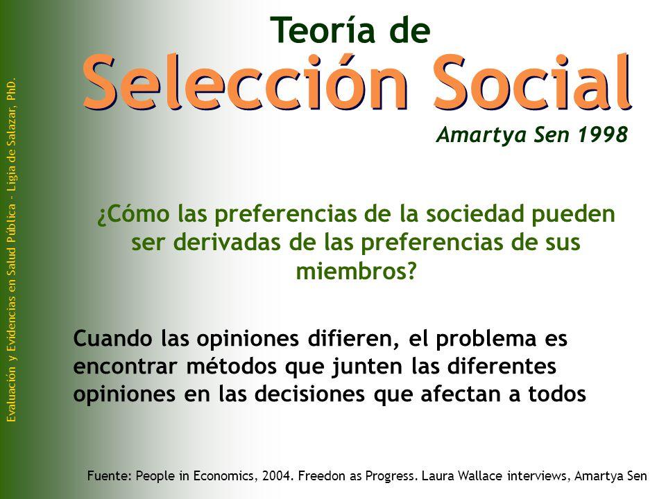 Selección Social Teoría de