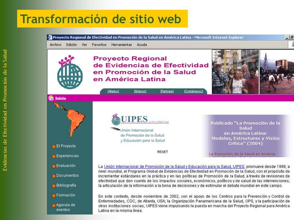 Transformación de sitio web