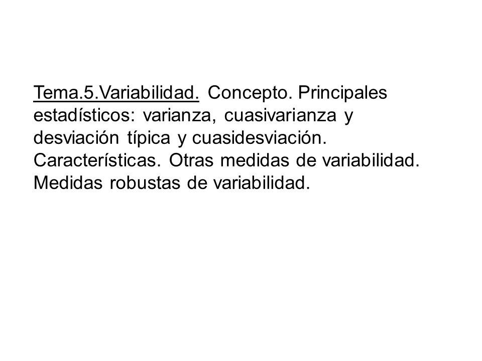 Tema. 5. Variabilidad. Concepto