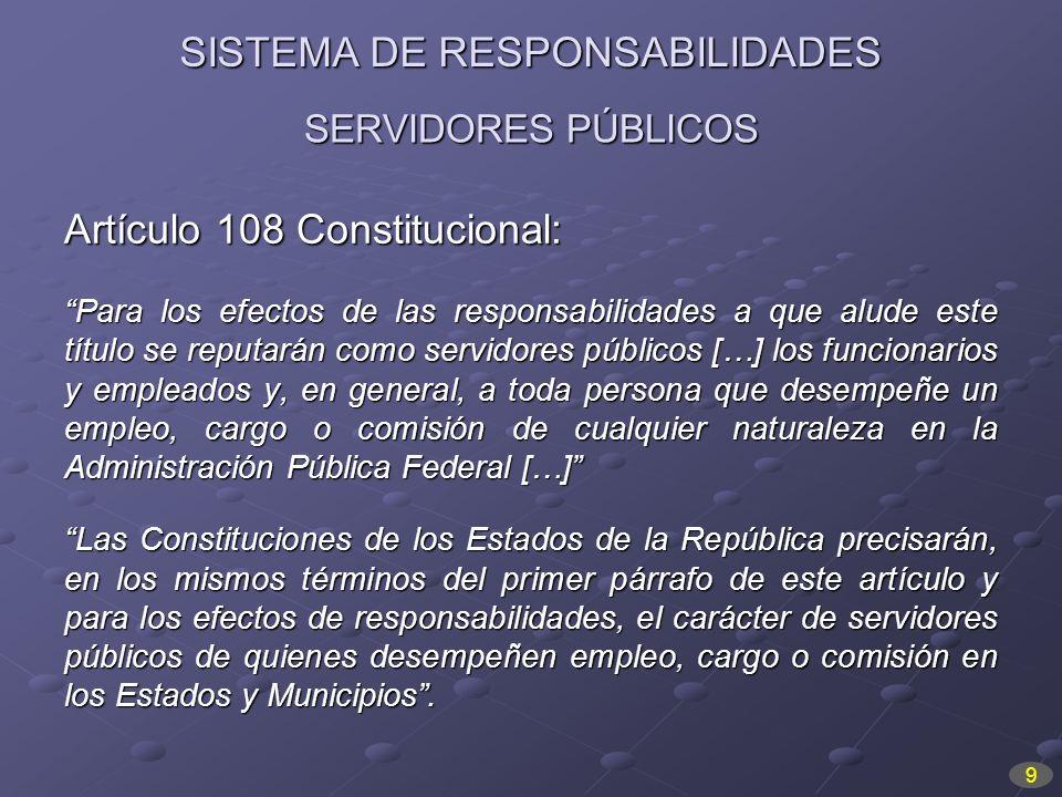 SISTEMA DE RESPONSABILIDADES
