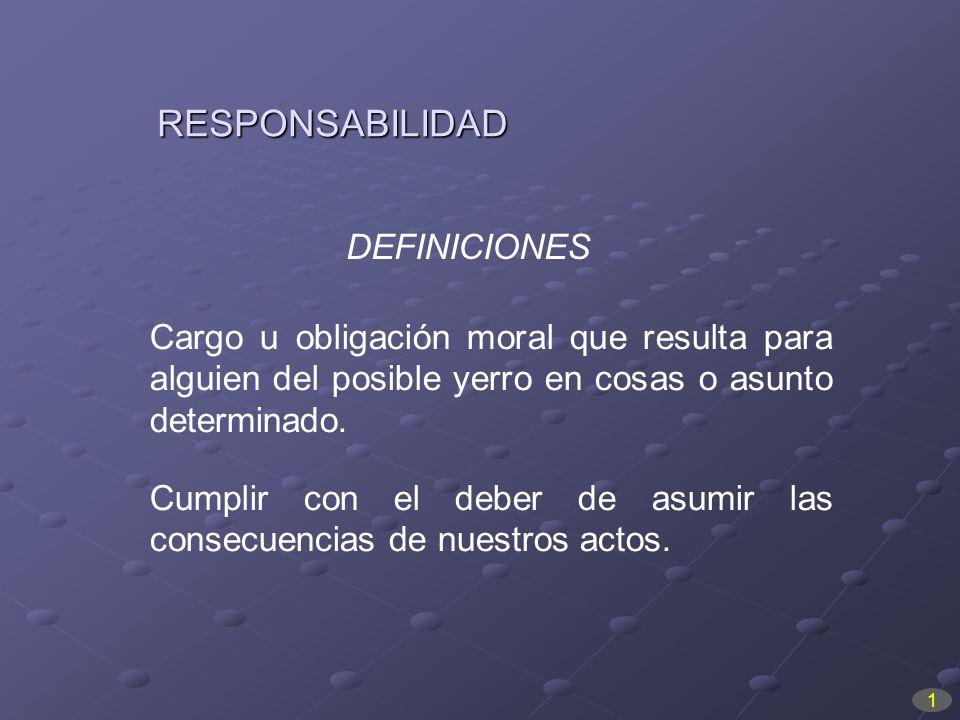 RESPONSABILIDAD DEFINICIONES