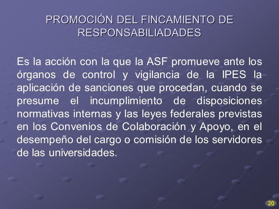 PROMOCIÓN DEL FINCAMIENTO DE RESPONSABILIADADES