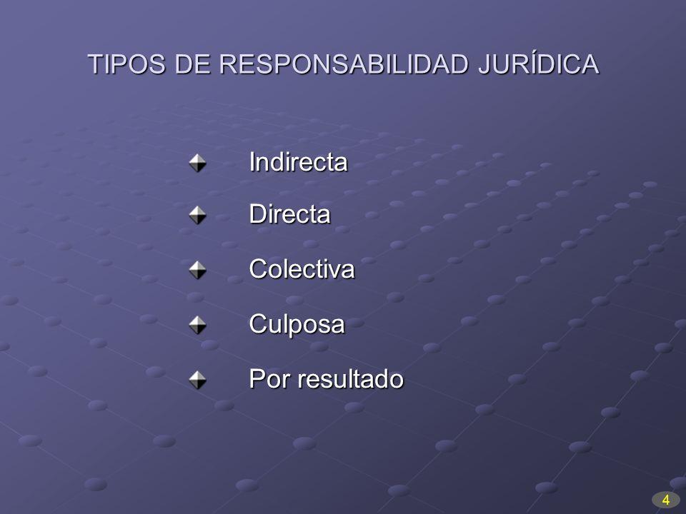 TIPOS DE RESPONSABILIDAD JURÍDICA