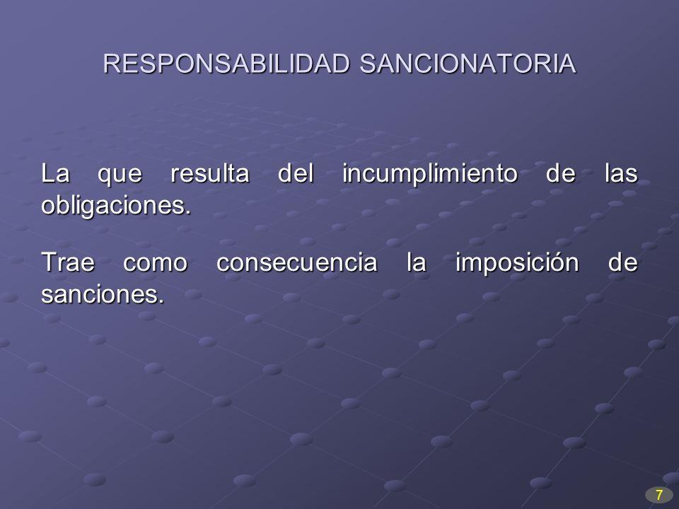 RESPONSABILIDAD SANCIONATORIA
