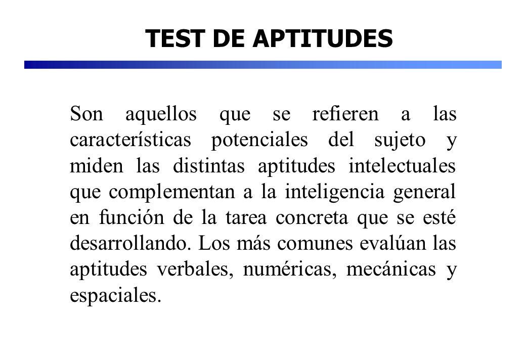 TEST DE APTITUDES
