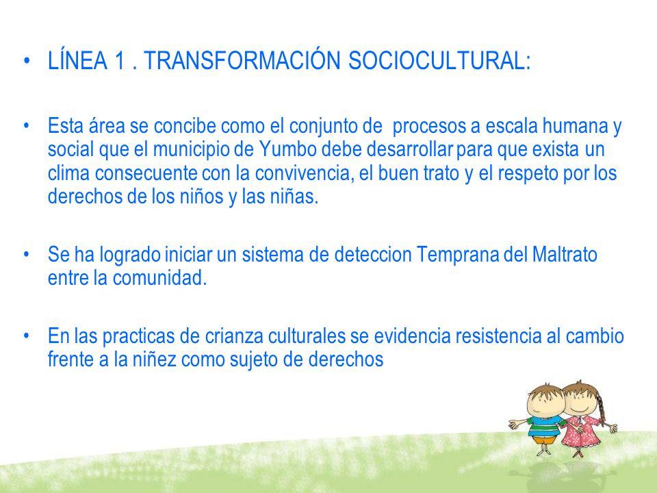 LÍNEA 1 . TRANSFORMACIÓN SOCIOCULTURAL: