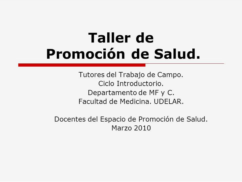 Taller de Promoción de Salud.