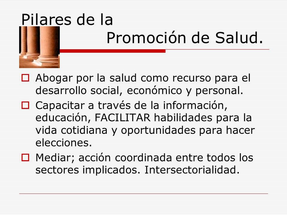 Pilares de la Promoción de Salud.