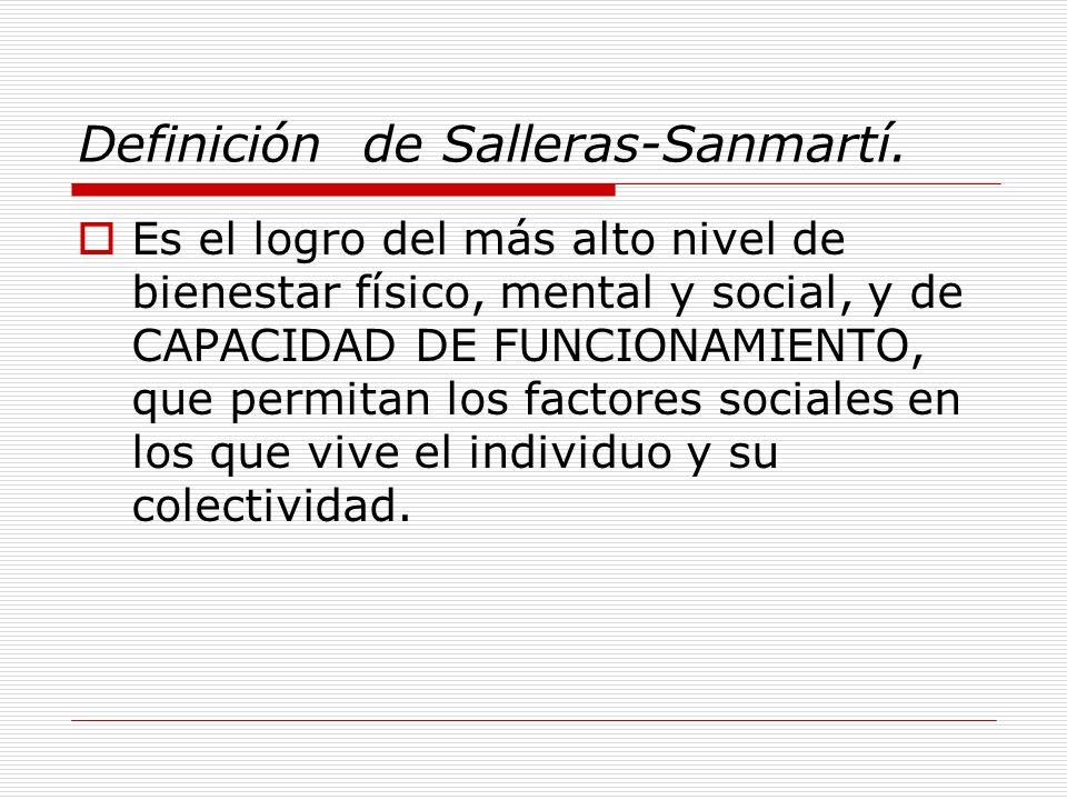 Definición de Salleras-Sanmartí.