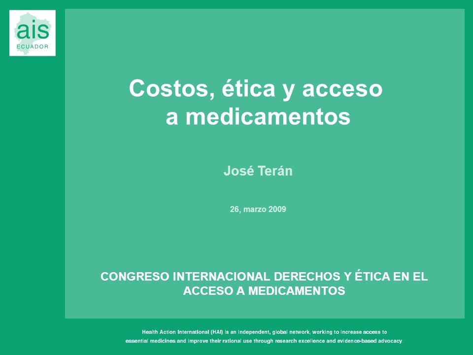 CONGRESO INTERNACIONAL DERECHOS Y ÉTICA EN EL ACCESO A MEDICAMENTOS