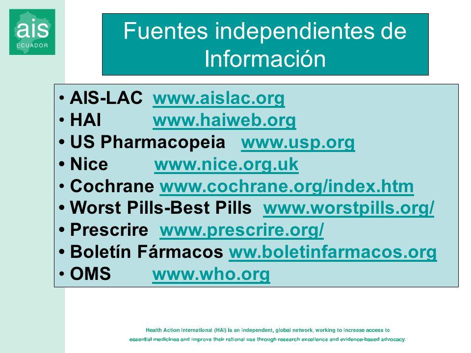 Fuentes independientes de Información