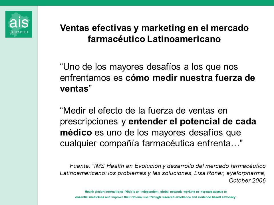 Ventas efectivas y marketing en el mercado farmacéutico Latinoamericano
