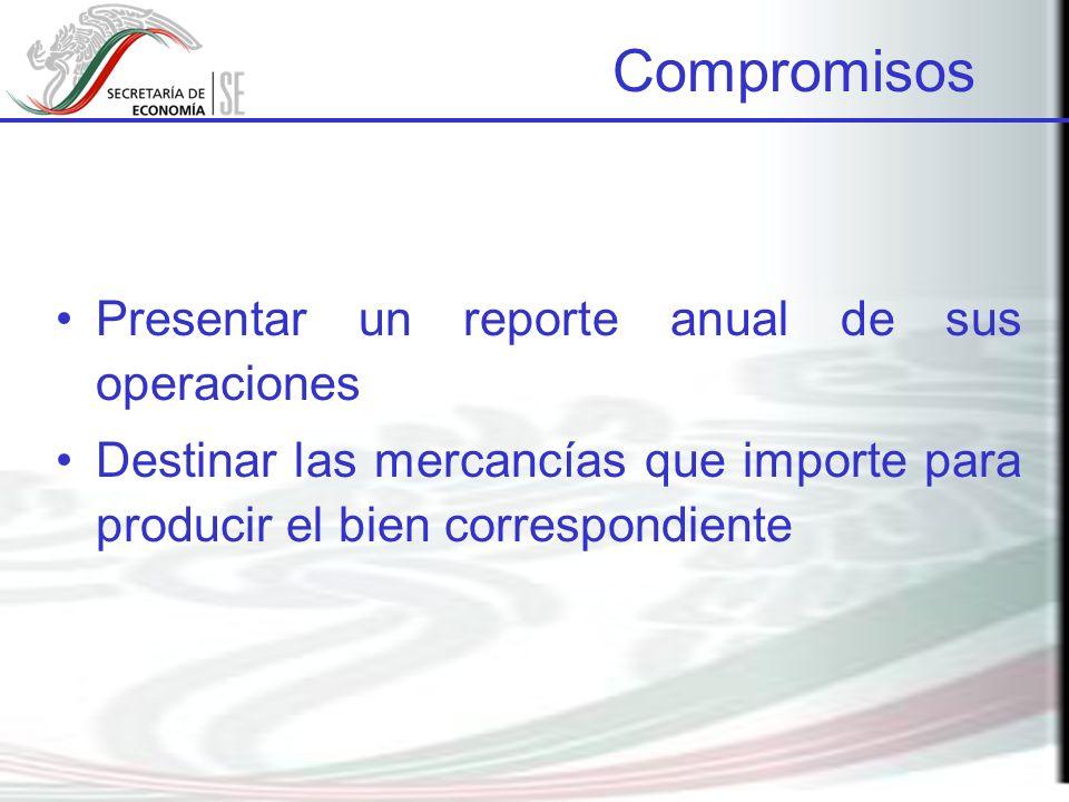 Presentar un reporte anual de sus operaciones