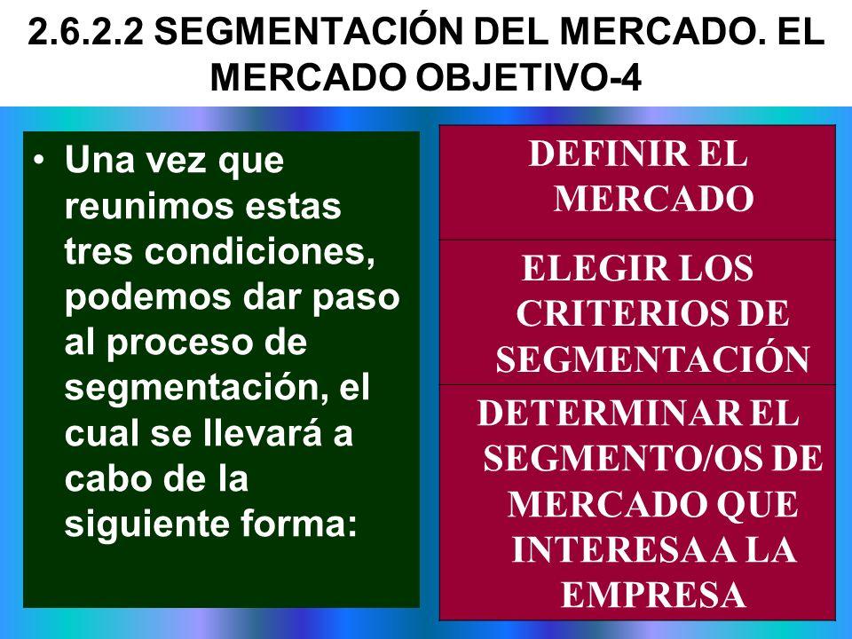 2.6.2.2 SEGMENTACIÓN DEL MERCADO. EL MERCADO OBJETIVO-4