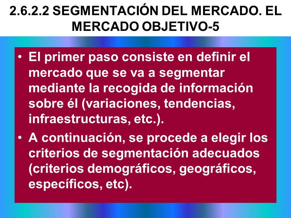 2.6.2.2 SEGMENTACIÓN DEL MERCADO. EL MERCADO OBJETIVO-5