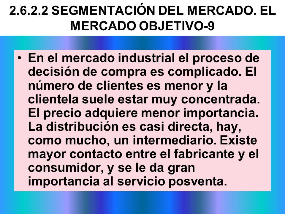 2.6.2.2 SEGMENTACIÓN DEL MERCADO. EL MERCADO OBJETIVO-9