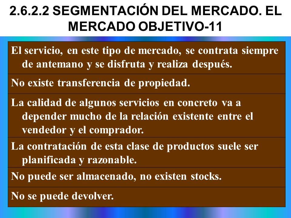 2.6.2.2 SEGMENTACIÓN DEL MERCADO. EL MERCADO OBJETIVO-11