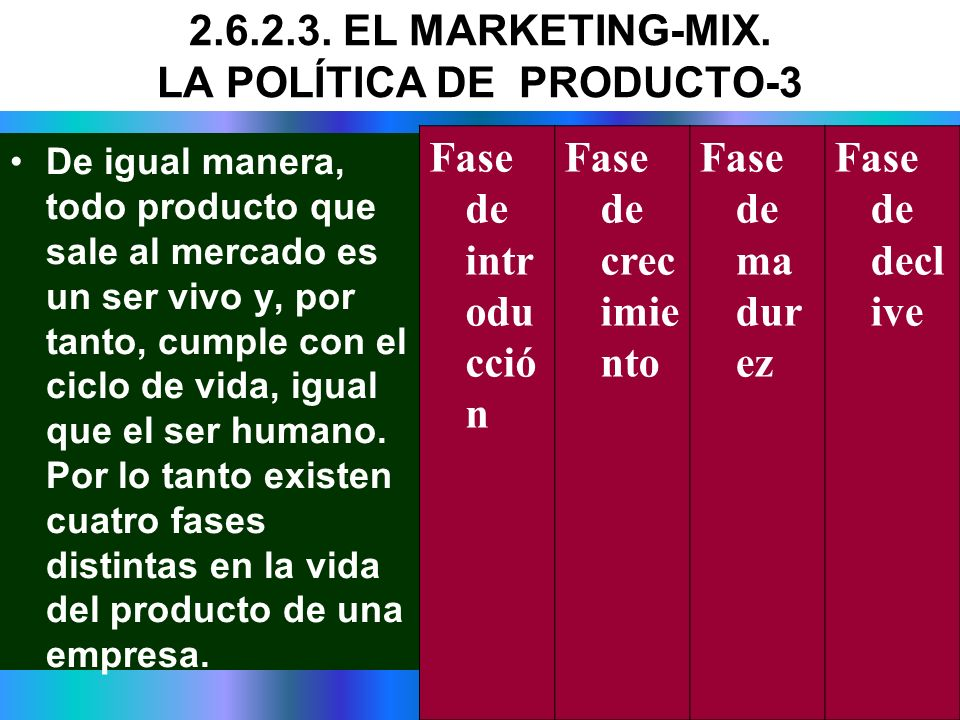2.6.2.3. EL MARKETING-MIX. LA POLÍTICA DE PRODUCTO-3