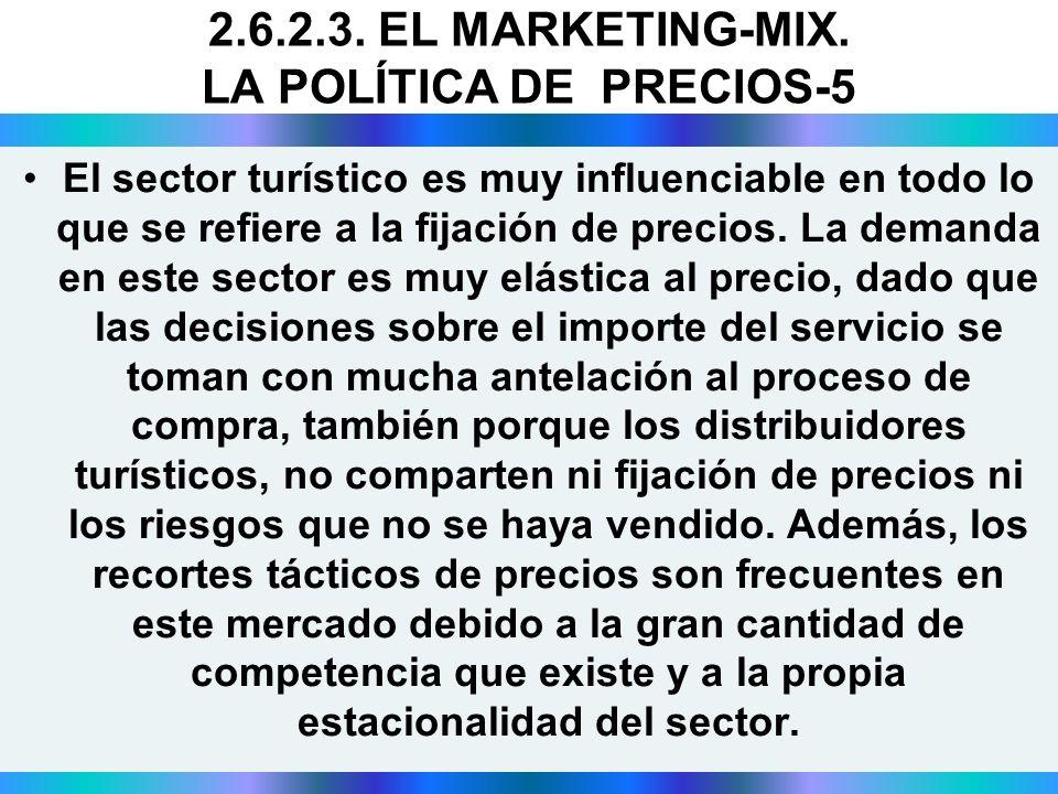 2.6.2.3. EL MARKETING-MIX. LA POLÍTICA DE PRECIOS-5