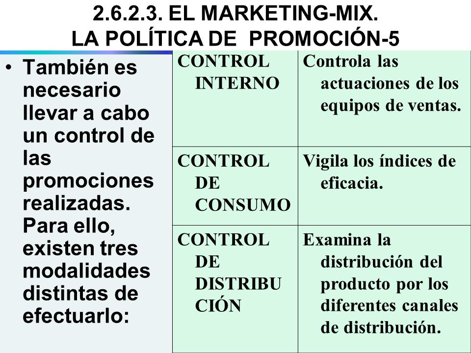 2.6.2.3. EL MARKETING-MIX. LA POLÍTICA DE PROMOCIÓN-5