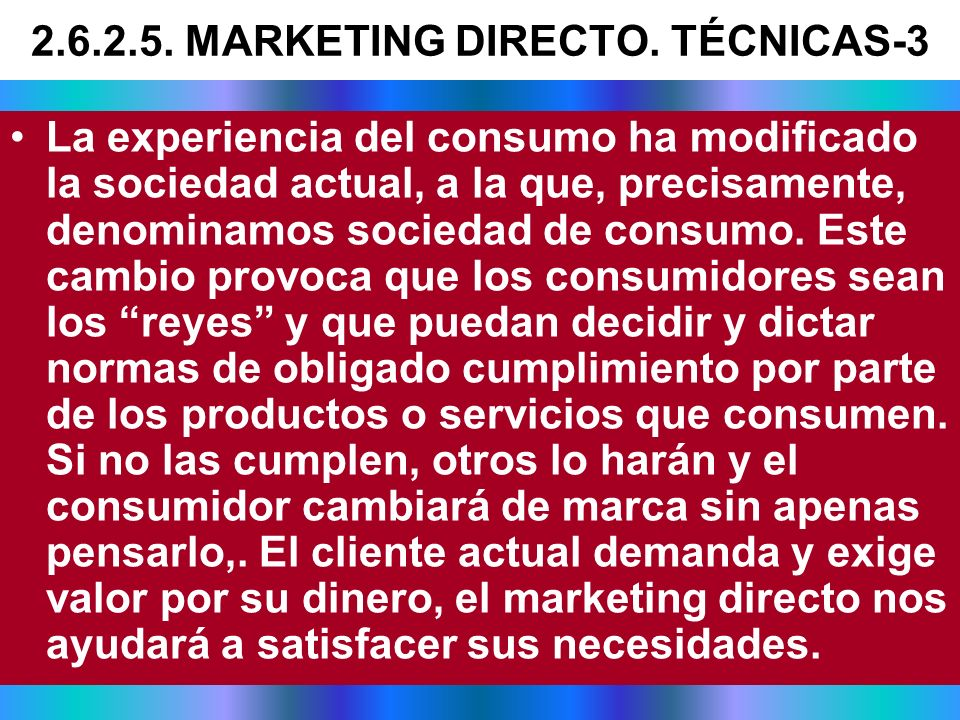 2.6.2.5. MARKETING DIRECTO. TÉCNICAS-3