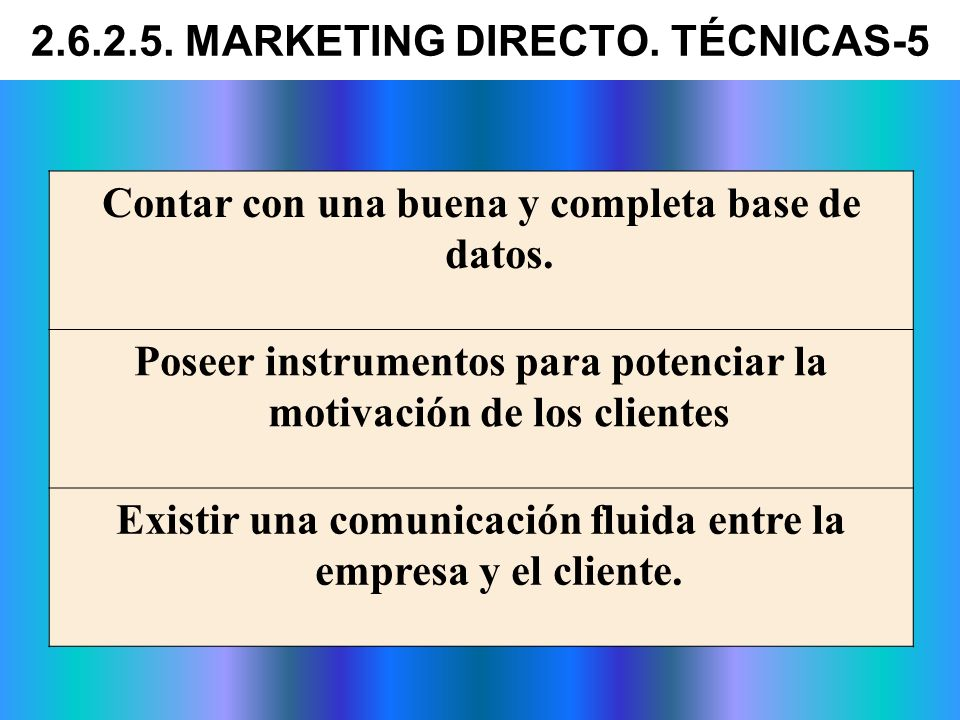 2.6.2.5. MARKETING DIRECTO. TÉCNICAS-5