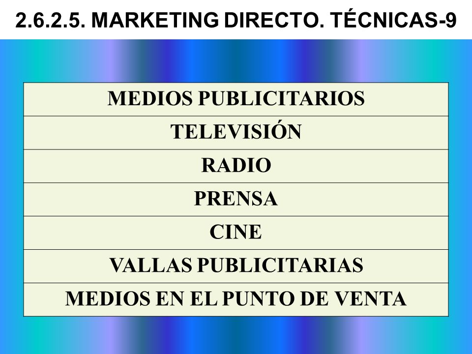 2.6.2.5. MARKETING DIRECTO. TÉCNICAS-9