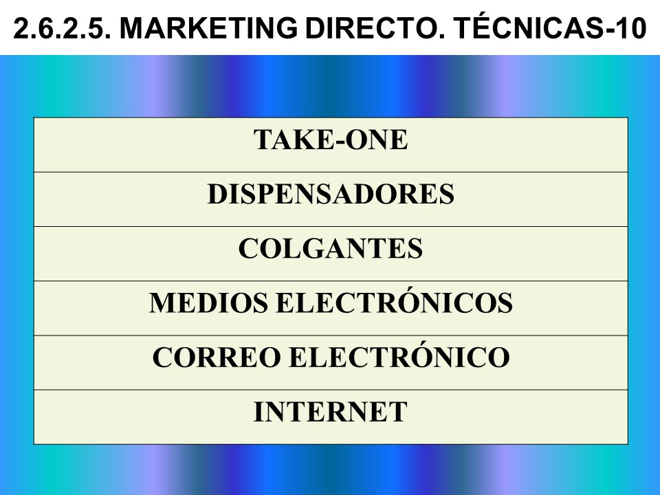 2.6.2.5. MARKETING DIRECTO. TÉCNICAS-10