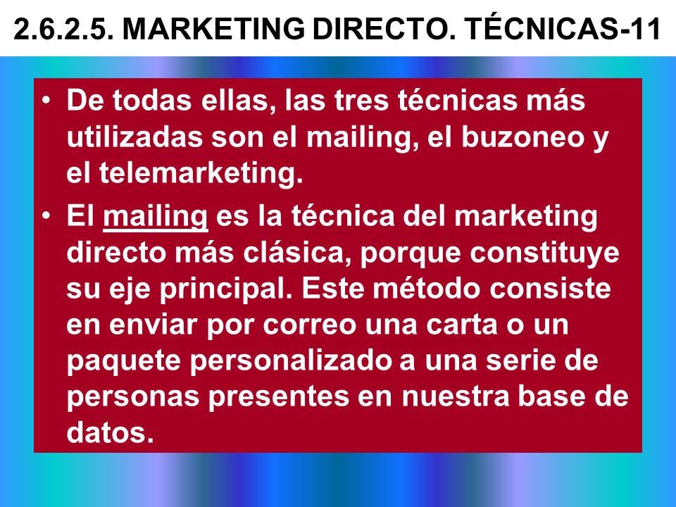 2.6.2.5. MARKETING DIRECTO. TÉCNICAS-11