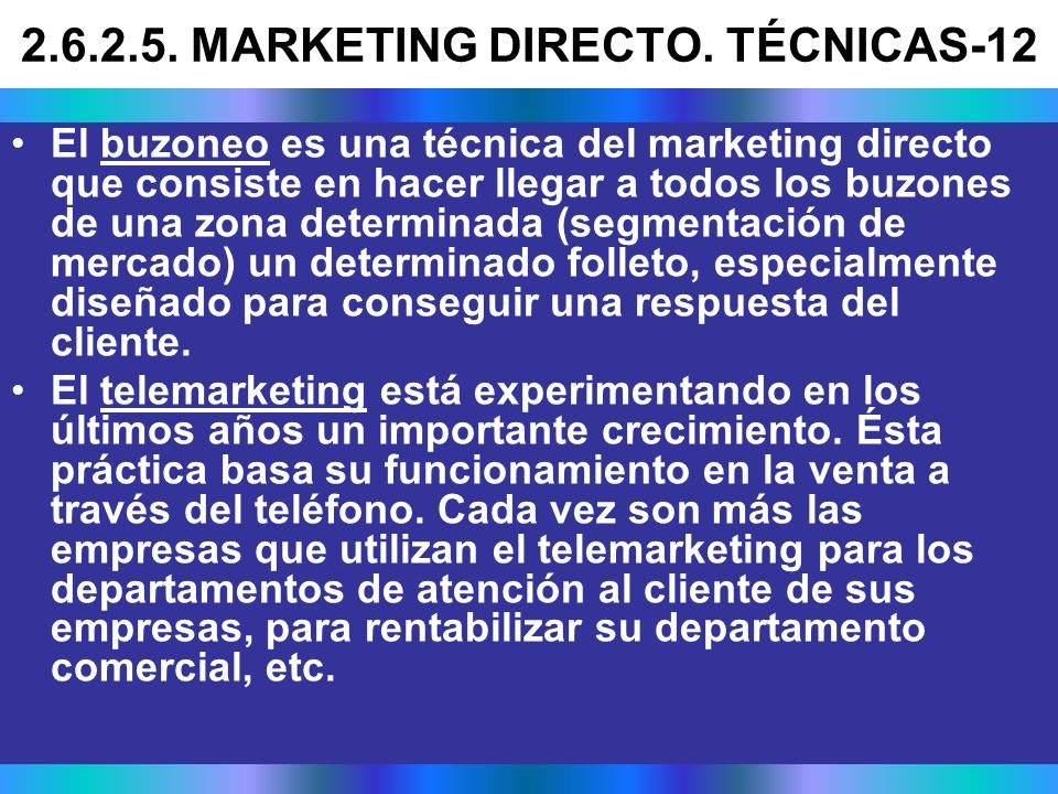2.6.2.5. MARKETING DIRECTO. TÉCNICAS-12