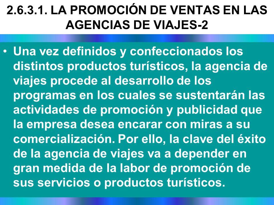 2.6.3.1. LA PROMOCIÓN DE VENTAS EN LAS AGENCIAS DE VIAJES-2