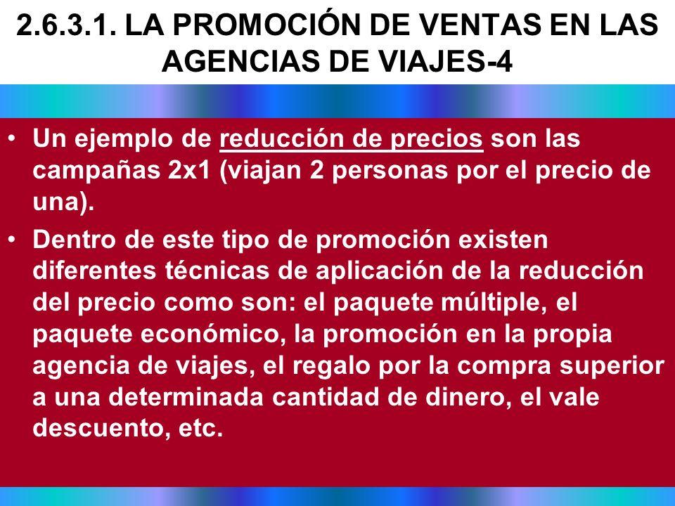 2.6.3.1. LA PROMOCIÓN DE VENTAS EN LAS AGENCIAS DE VIAJES-4