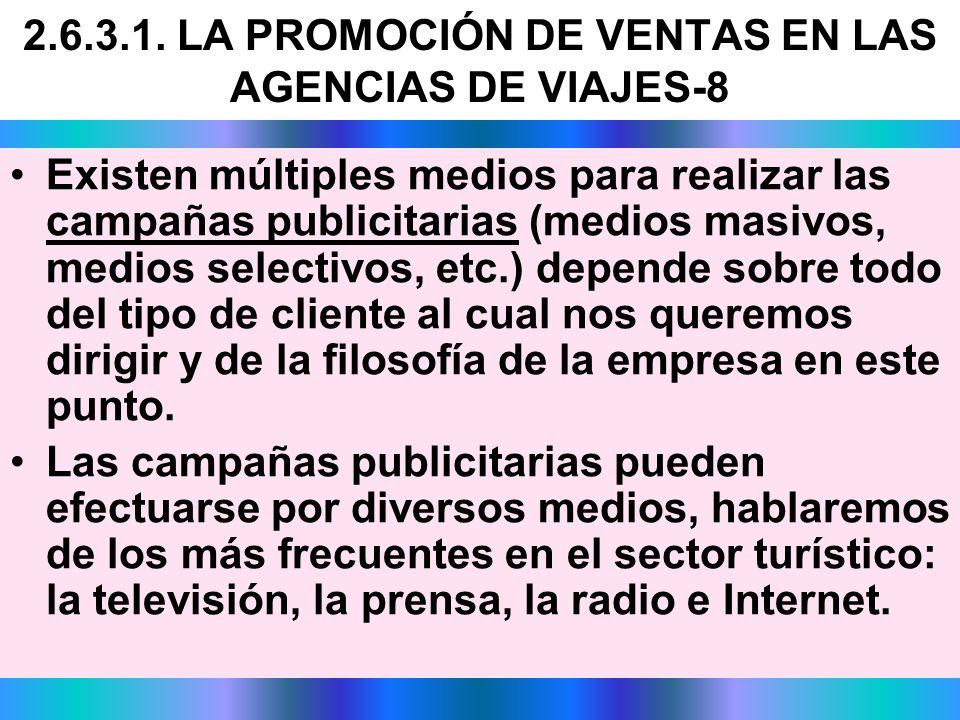 2.6.3.1. LA PROMOCIÓN DE VENTAS EN LAS AGENCIAS DE VIAJES-8