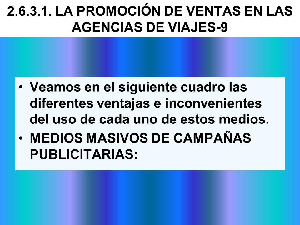 2.6.3.1. LA PROMOCIÓN DE VENTAS EN LAS AGENCIAS DE VIAJES-9