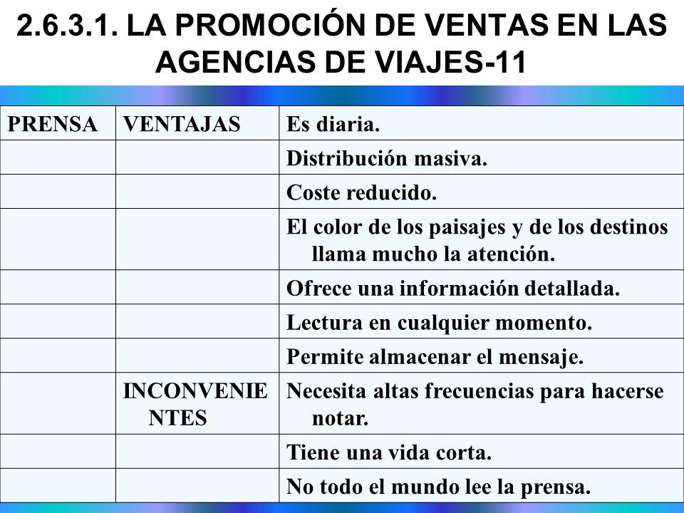 2.6.3.1. LA PROMOCIÓN DE VENTAS EN LAS AGENCIAS DE VIAJES-11