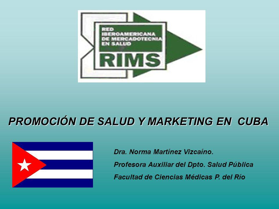 PROMOCIÓN DE SALUD Y MARKETING EN CUBA