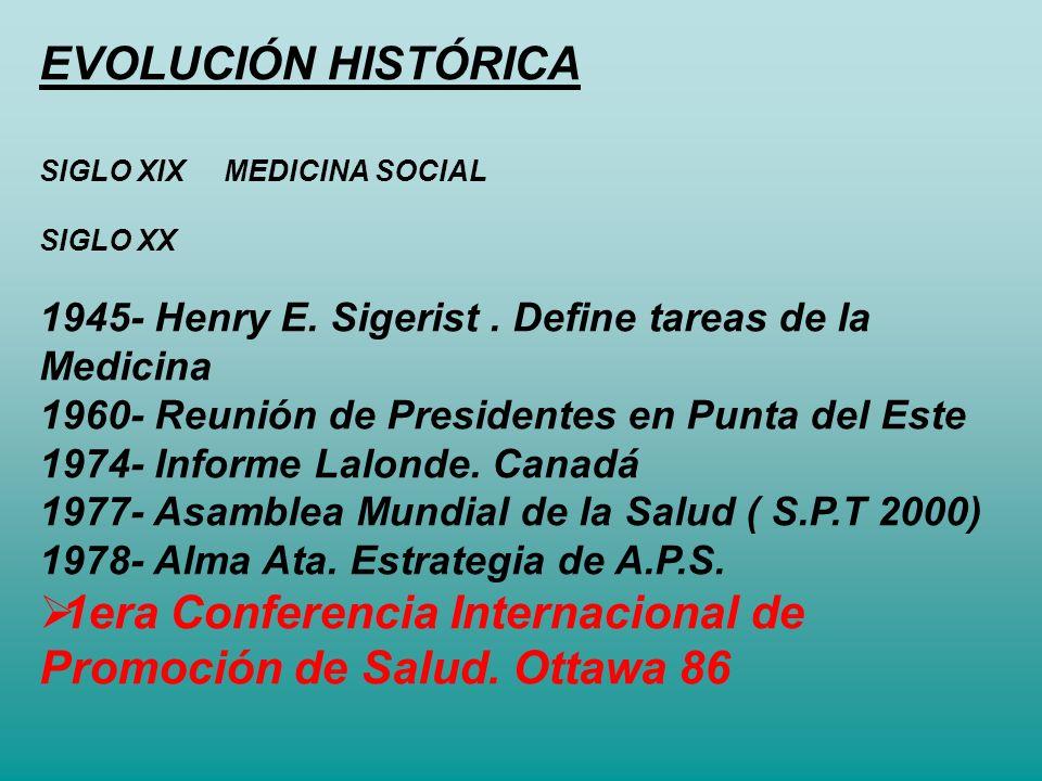 1era Conferencia Internacional de Promoción de Salud. Ottawa 86