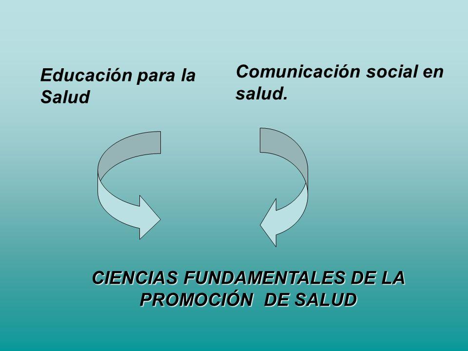 CIENCIAS FUNDAMENTALES DE LA PROMOCIÓN DE SALUD