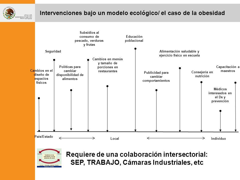 Intervenciones bajo un modelo ecológico/ el caso de la obesidad