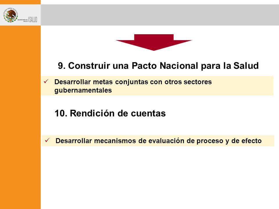 9. Construir una Pacto Nacional para la Salud