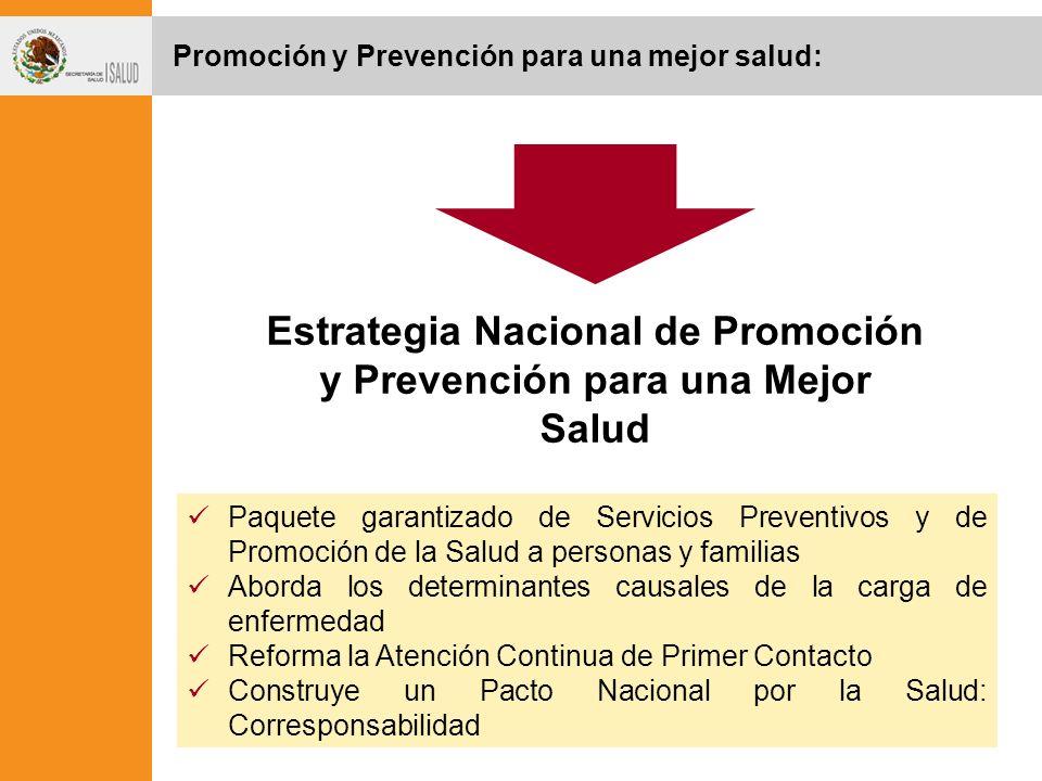 Promoción y Prevención para una mejor salud: