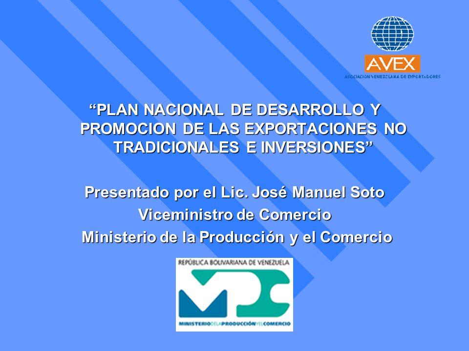 Presentado por el Lic. José Manuel Soto Viceministro de Comercio