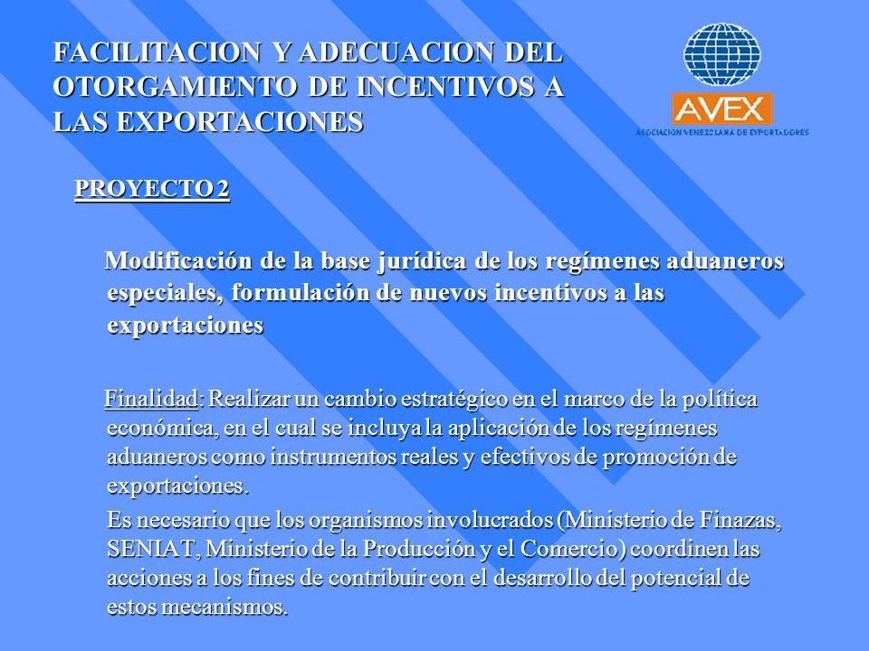 FACILITACION Y ADECUACION DEL OTORGAMIENTO DE INCENTIVOS A LAS EXPORTACIONES