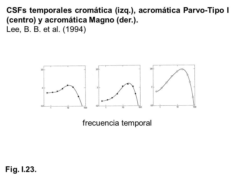 CSFs temporales cromática (izq