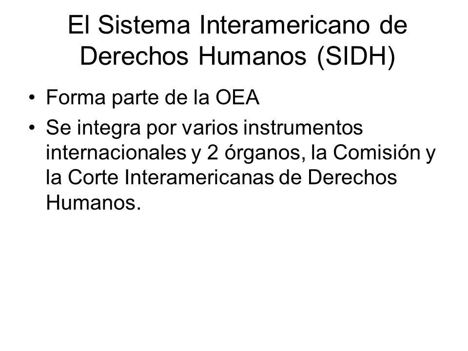 El Sistema Interamericano de Derechos Humanos (SIDH)