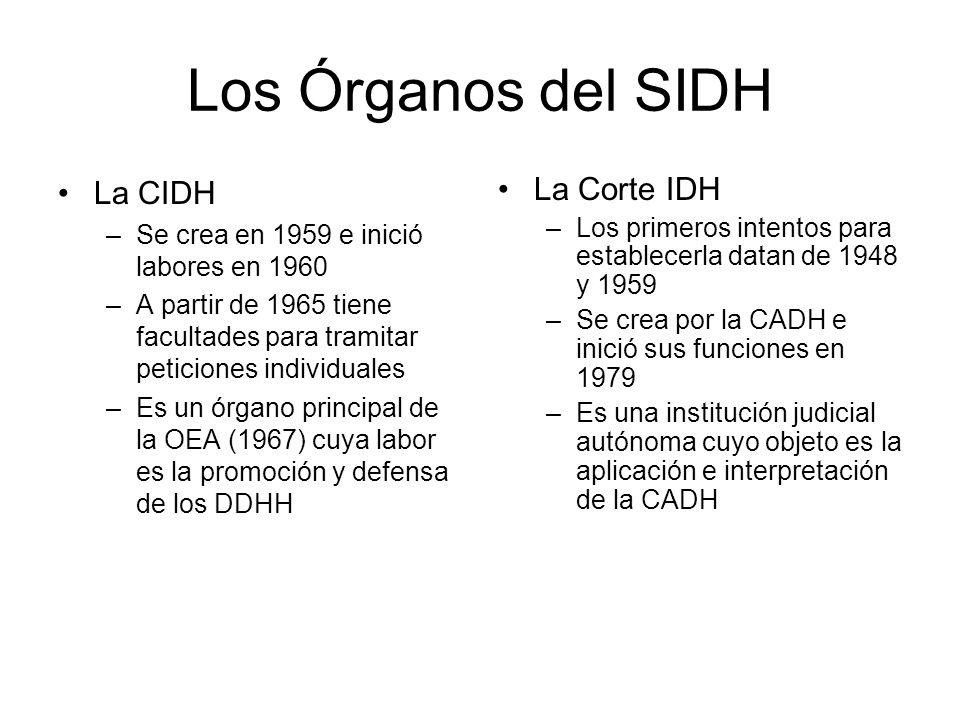 Los Órganos del SIDH La CIDH La Corte IDH