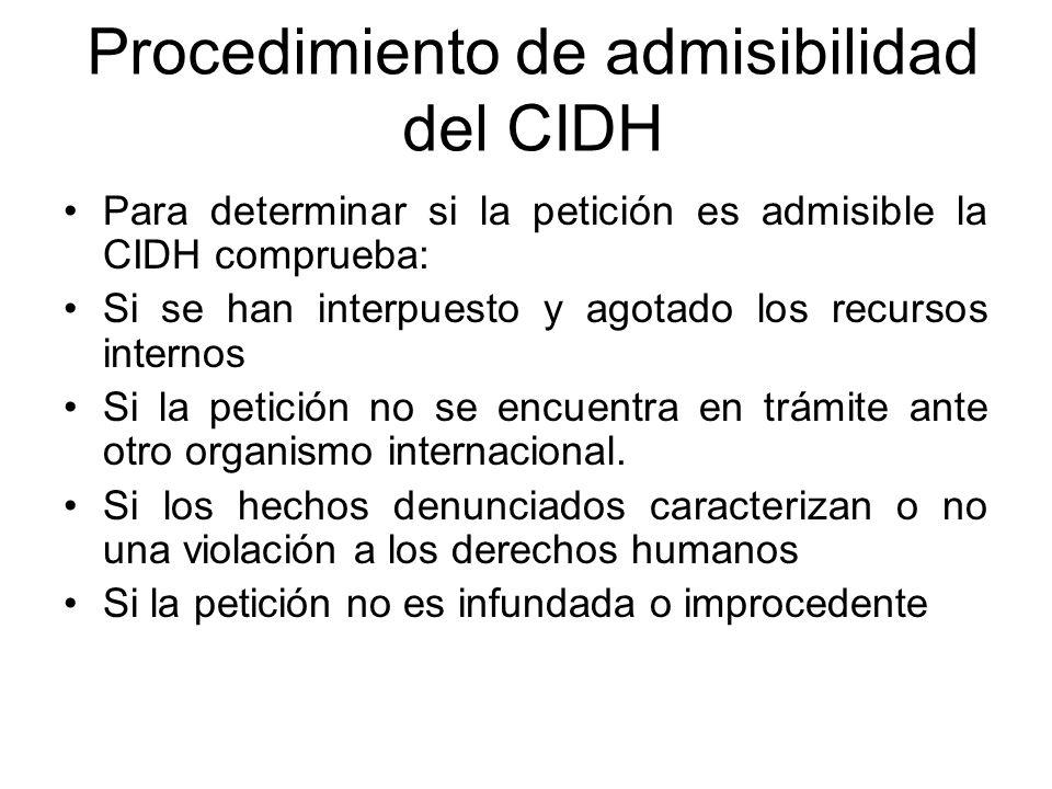 Procedimiento de admisibilidad del CIDH