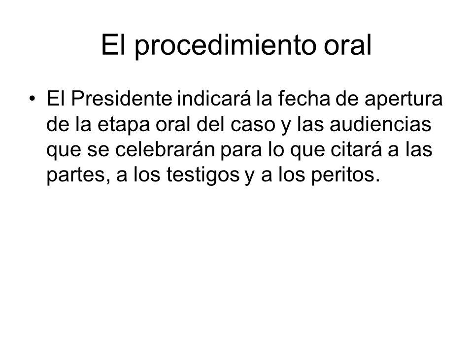 El procedimiento oral
